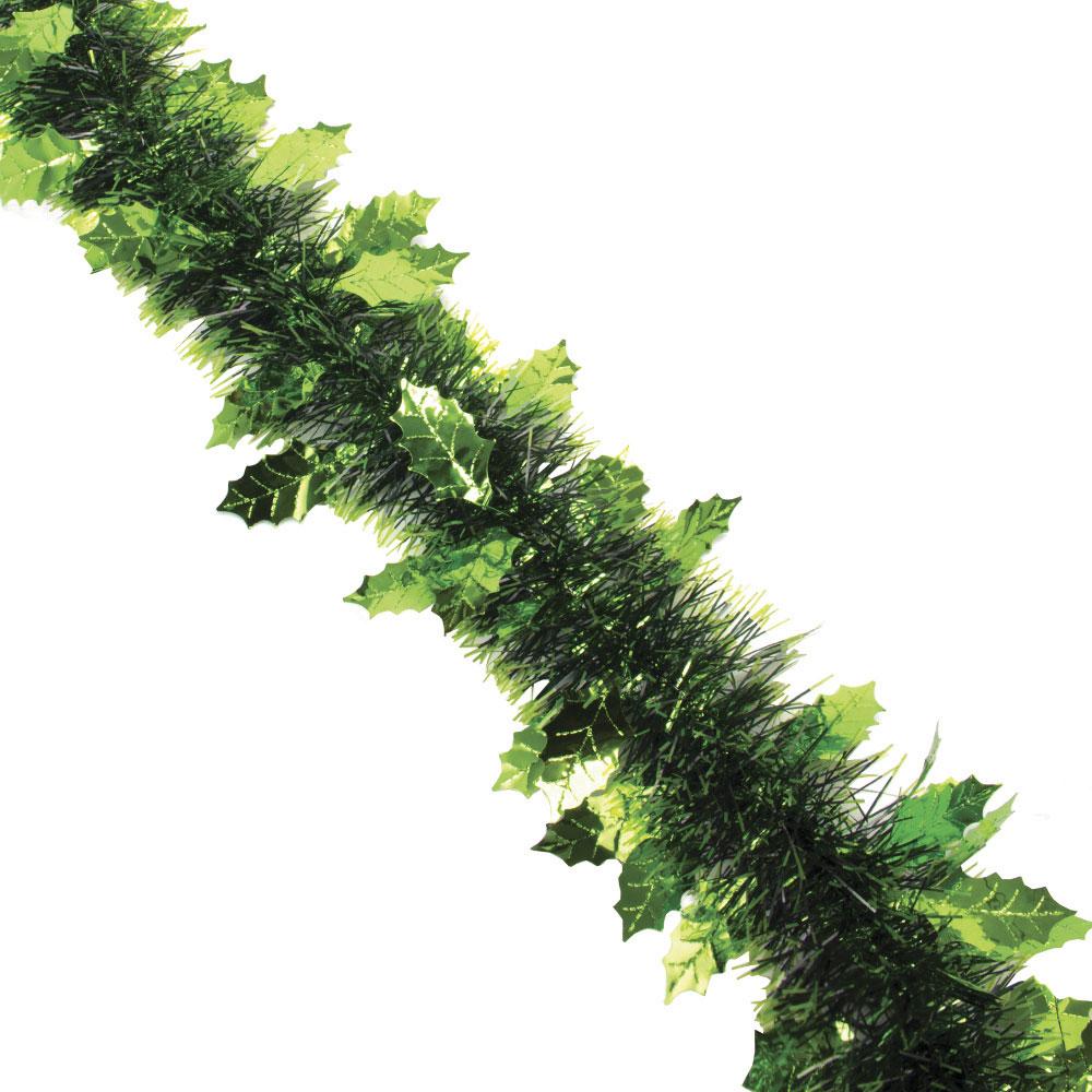 СНОУ БУМ Мишура 8х200см, ПВХ, в форме елочек, 2 цвета (зеленый, малиновый)