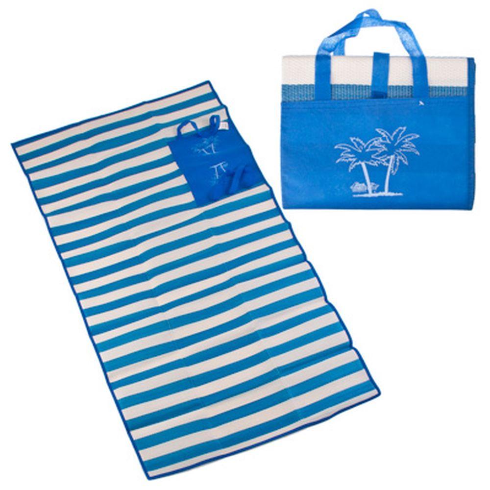 Коврик пляжный с ручками для переноски, PP, 90х180см