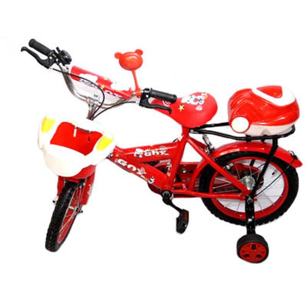 """Велосипед двухколесный 16"""" (со съемными боковыми) цвет микс. арт.12-5-16"""