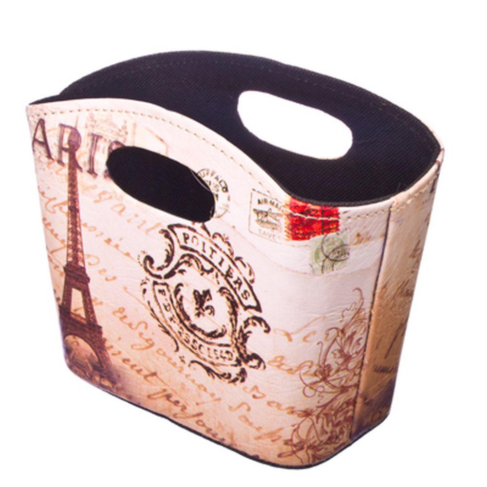 """Подставка-сумка """"Париж"""", ПВХ, 20x11x15см"""