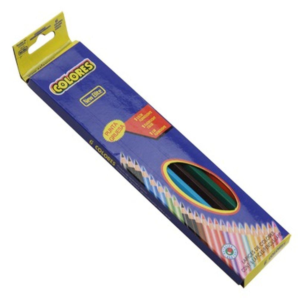 Набор цветных карандашей, 6 цветов, карт.коробка