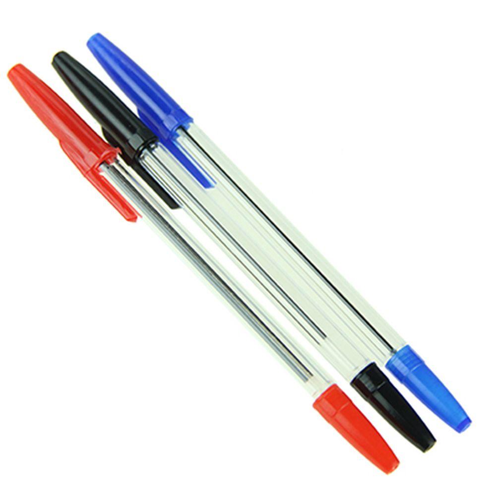 Набор ручек шариковых 10шт, 3 цвета чернил (синяя, черная, красная)