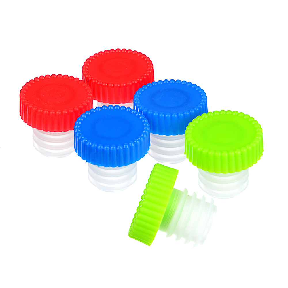 Набор пробок для бутылки 6 шт, пластик, 2,5х2,5 см