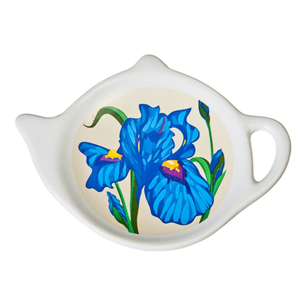 """Подставка для чайных пакетиков керамика, 12,5x8x0,96см, """"Ирис"""""""