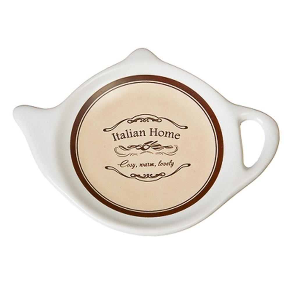 """Подставка для чайных пакетиков керамика, 12,5x8x0,96см, """"Italian Home"""""""