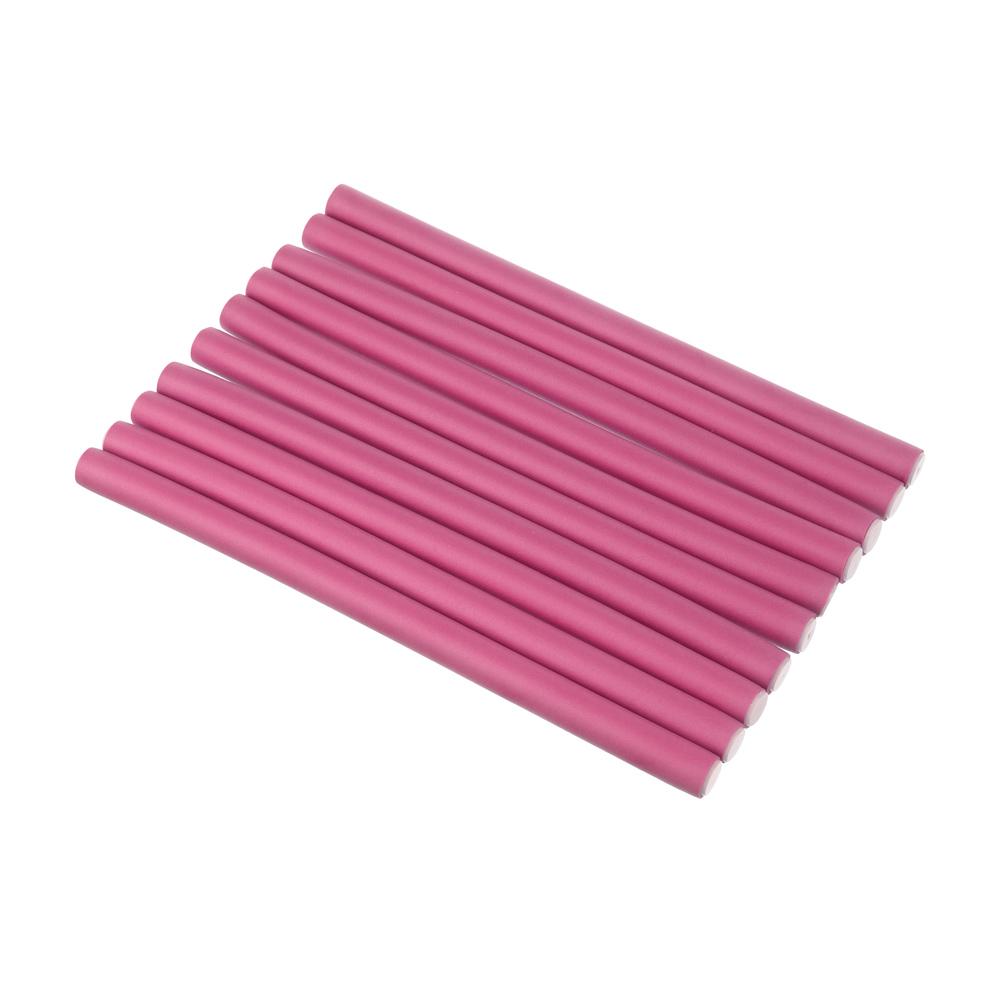 Папильотки для волос 10 шт., 25x1,5 см, пластик