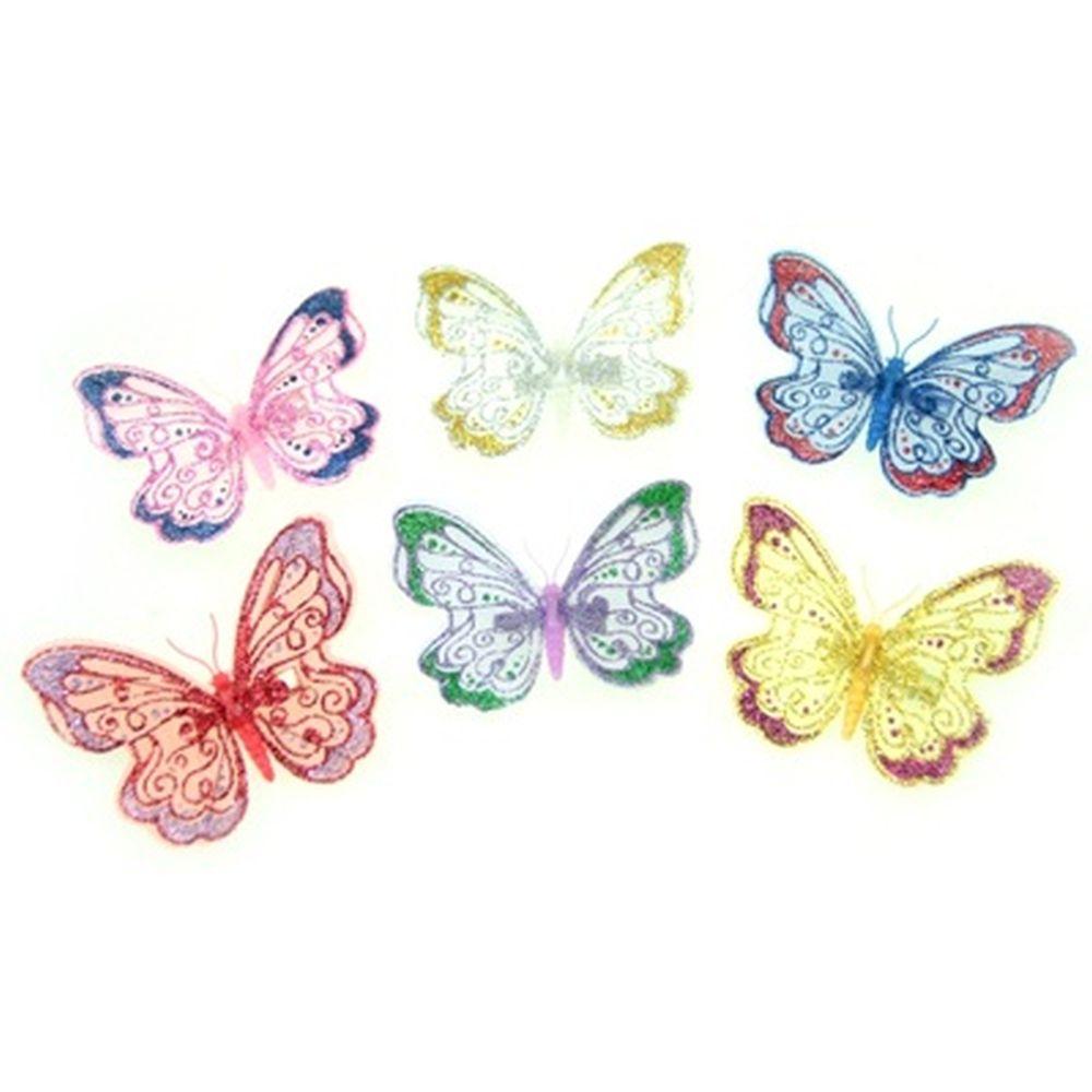 Зажим для штор бабочка малая, 9 см (металл+пластик)
