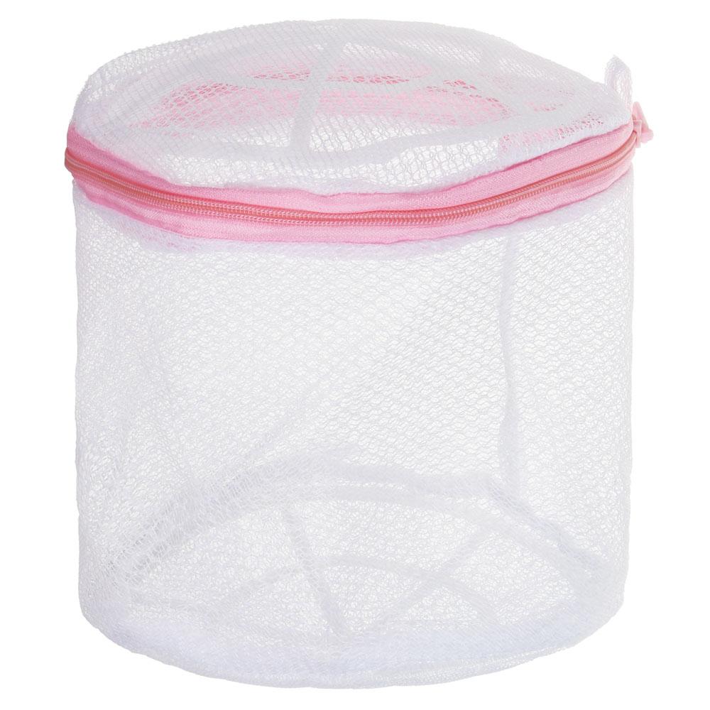 Мешок для стирки нижнего белья, пластик, полиэстер, 15x15x16см