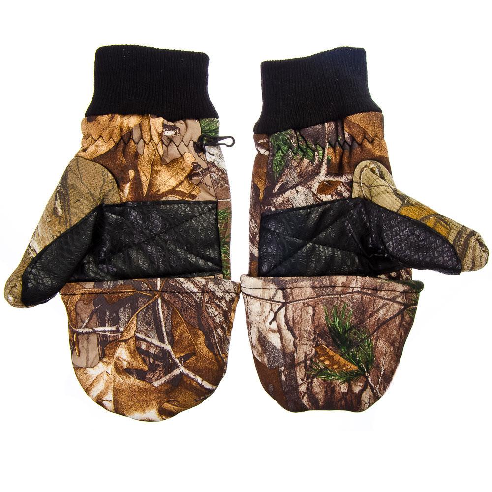 AZOR Перчатки-варежки ветрозащитные отстёгивающиеся, флис