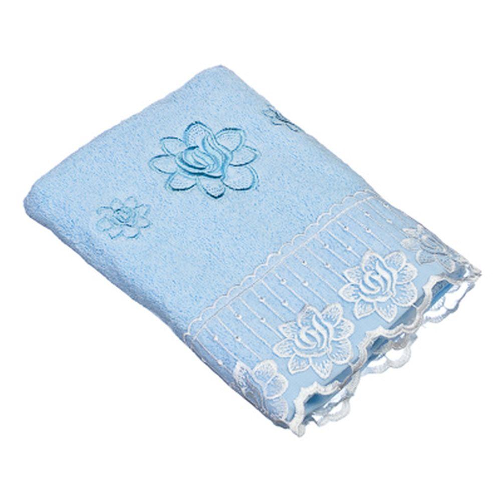 VETTA Полотенце банное, 100% хлопок Барокко 50x90см, голубое