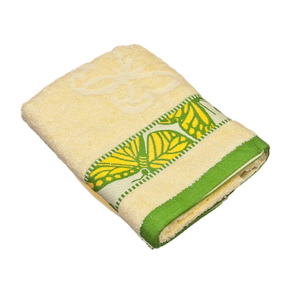 VETTA Полотенце банное, 100% хлопок Батерфляй 50x90см, зелёное
