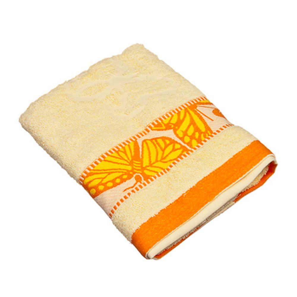 VETTA Полотенце банное, 100% хлопок Батерфляй 50x90см, оранжевое