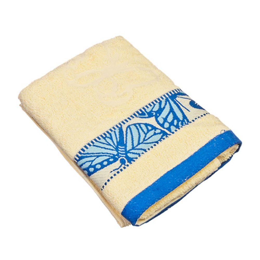 VETTA Полотенце банное, 100% хлопок Батерфляй 50x90см, голубое