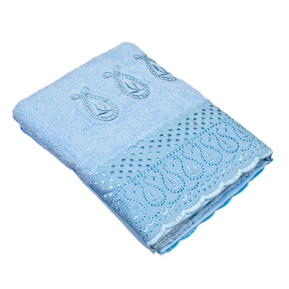 VETTA Полотенце банное, 100% хлопок Элеганс 50x90см, голубое
