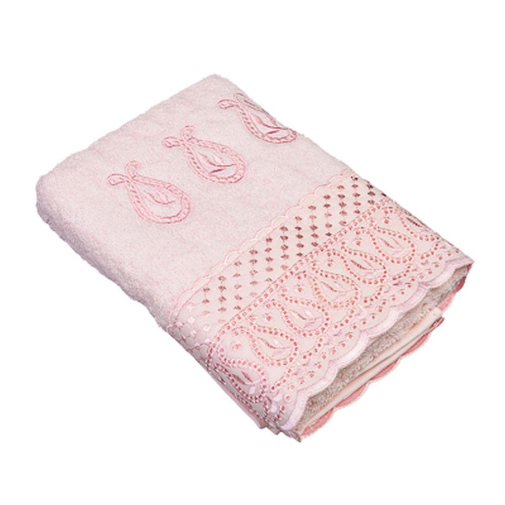 VETTA Полотенце банное, 100% хлопок Элеганс 50x90см, розовое