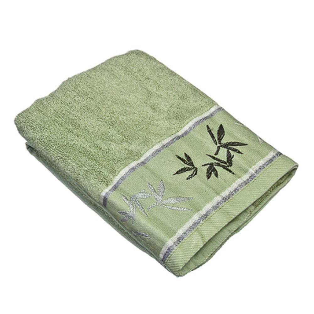 VETTA Полотенце банное, бамбук, 50x90см, Джангл зелёное