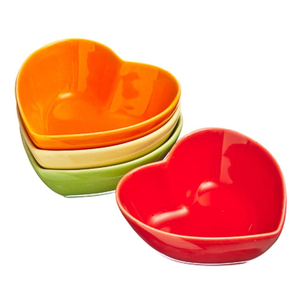 VETTA Набор блюд для закусок 4 шт. Сердце 7,5х7,5х3см керамика A-669