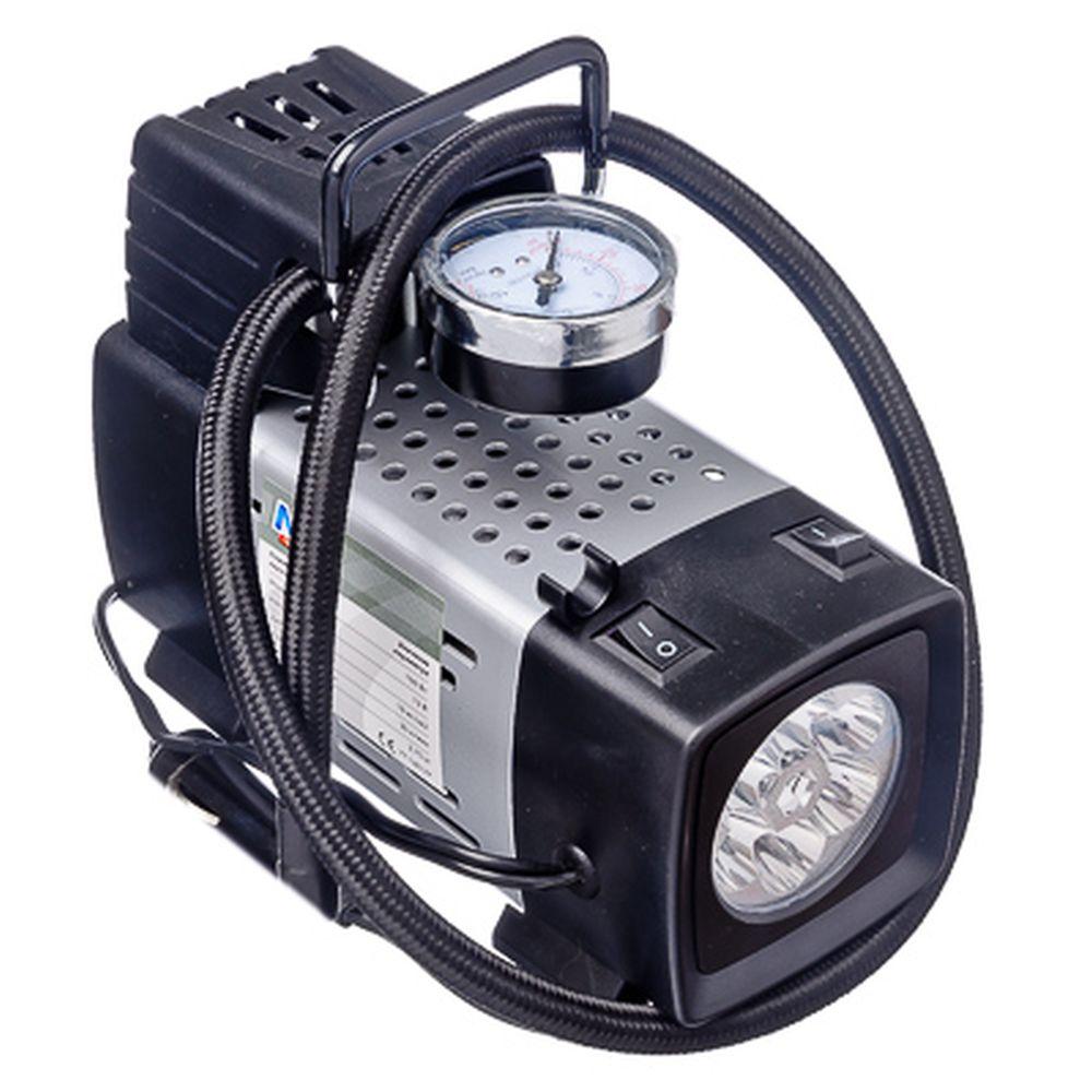 NEW GALAXY Компрессор с LED фонарем, пит. от прикуривателя, 03.65.012, 160Вт,10кг/см2,35л/мин