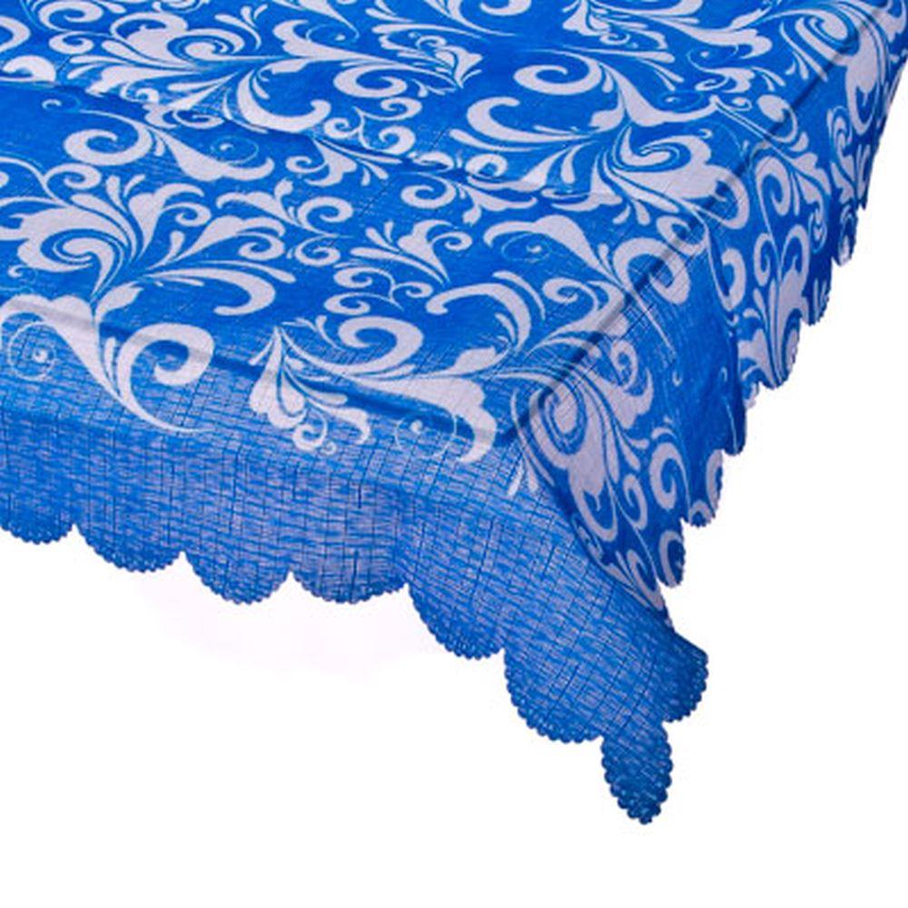 "VETTA Скатерть п/э с тефлон. покр. 150x150см, ""Ornament blue"""
