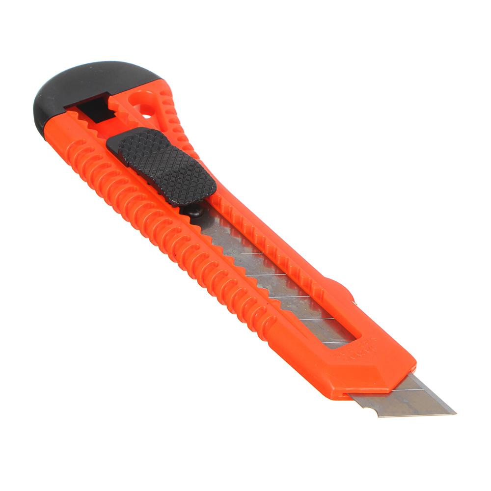 FALCO Нож универсальный пластиковый с сегментированным лезвием 18мм (квадр. фиксатор)