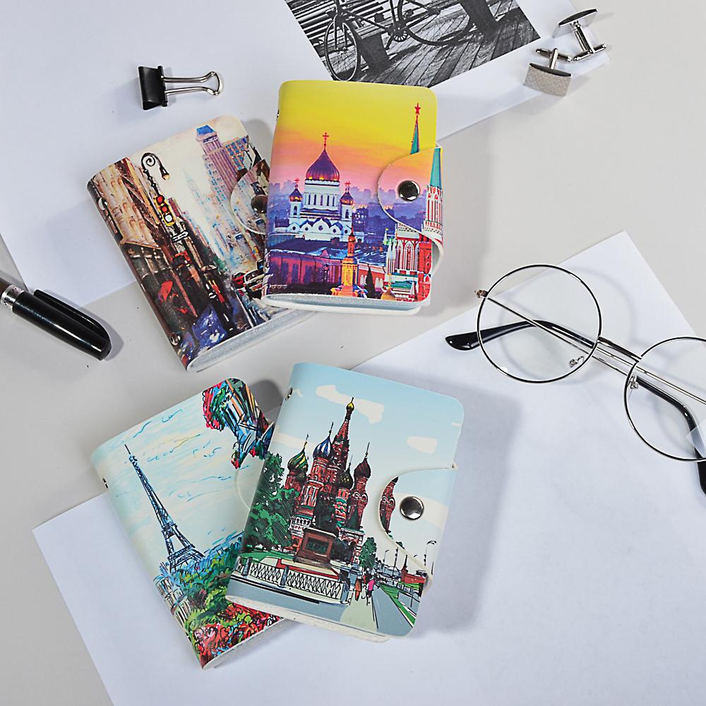 PAVO Визитница 26 карт, ПВХ, 7х10х2см, 4 дизайна