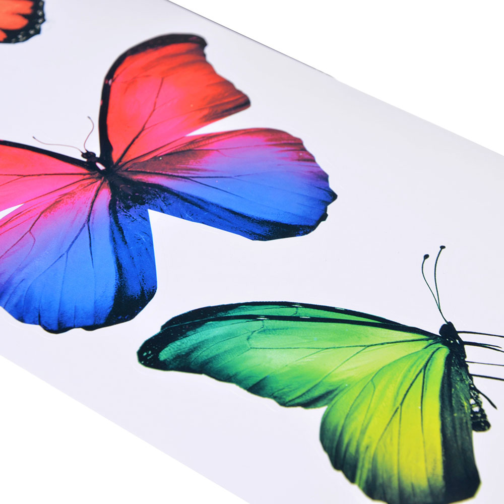 "LADECOR Наклейки ""Красота бабочек"", 40х13см, ПВХ, бумага, 4 дизайна"