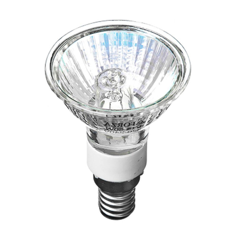 FORZA Лампа галогенная с защитным стеклом, цоколь E14, 220В, 50Вт, 2800K, ресурс 2 000ч., D50 мм