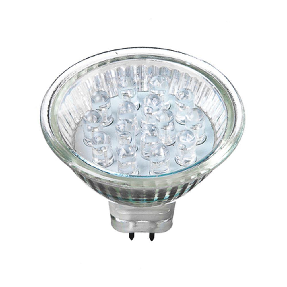 FORZA Лампа светодиодная цоколь GU5.3, 15LED,  0.6-1Вт, син. свеч.   12В, ресурс 30000 ч.