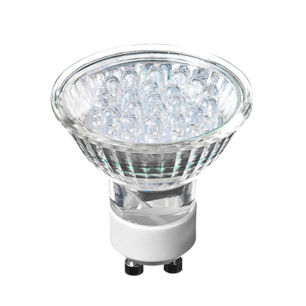 FORZA Лампа светодиодная цоколь GU10, 21LED,  1-1.5Вт, син. свеч. 220В, ресурс 30000 ч.