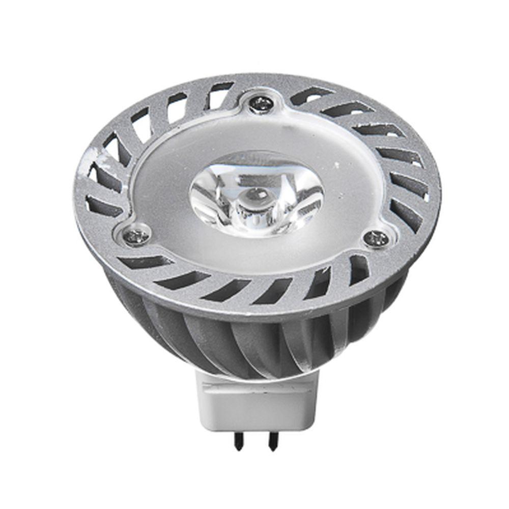 FORZA Лампа светодиодная высокомощная, цоколь GU5.3, 1LED, 1Вт, 3500K, 12В, ресурс 30 000 ч.