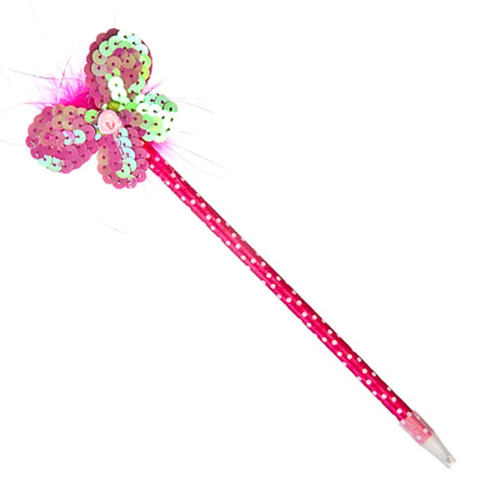 """Ручка """"Магическая палочка"""", шариковая, с мягким украшением, с пайетками, 26см, в асс-те, ПВХ"""