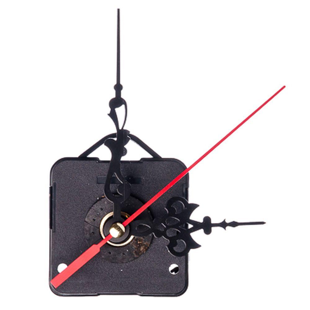 Механизм часовой с резными стрелками и подвесом, пластмасса, металл