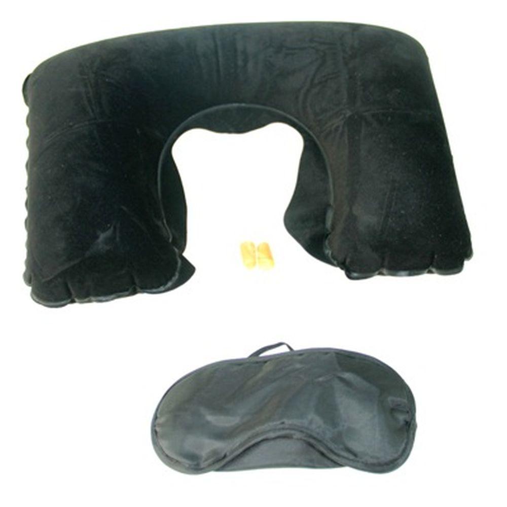 Набор дорожный (повязка для сна, беруши, подушка) ПВХ