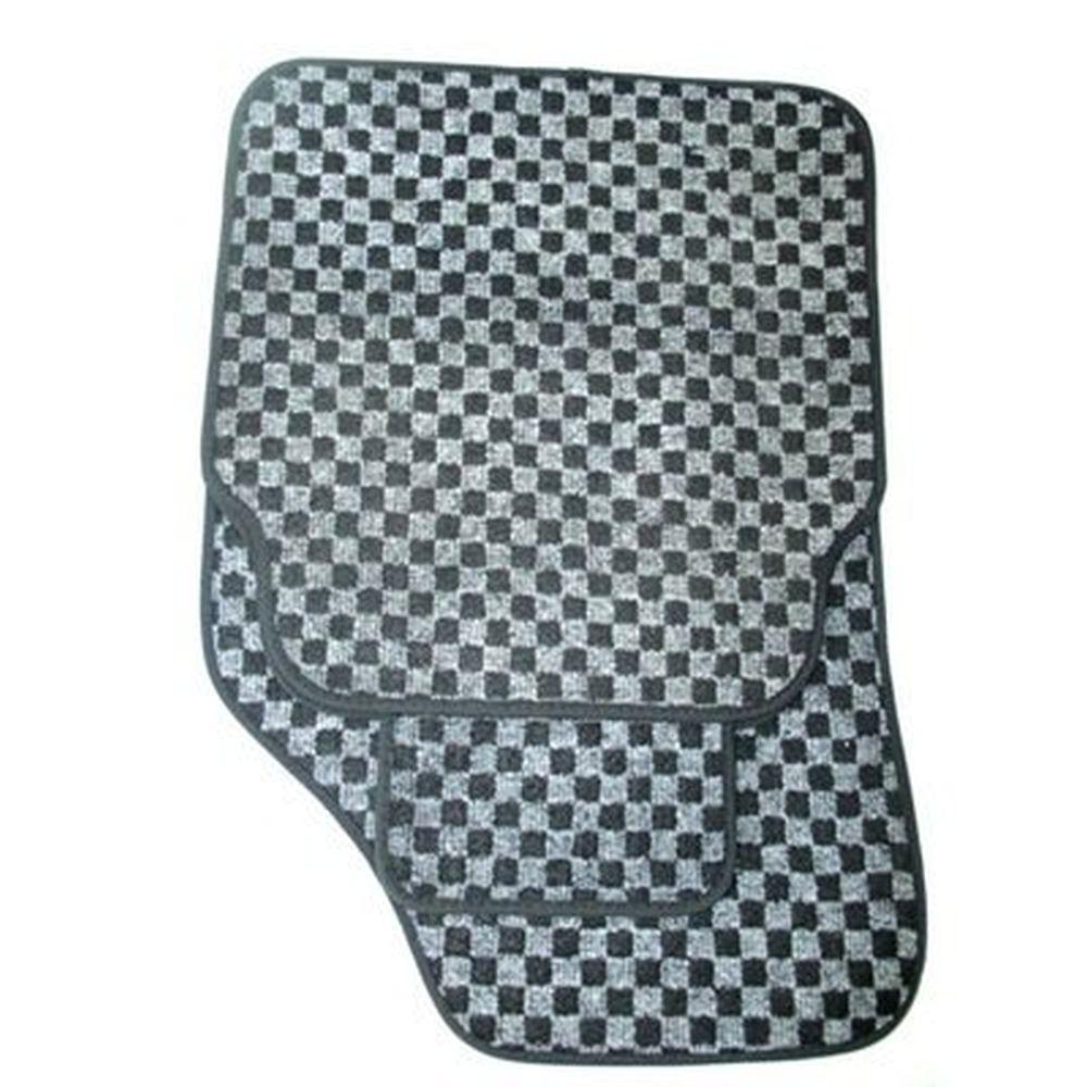 Набор ковриков ворсовых 5 пр., полипропилен, 70x49см + 40x45см, черные
