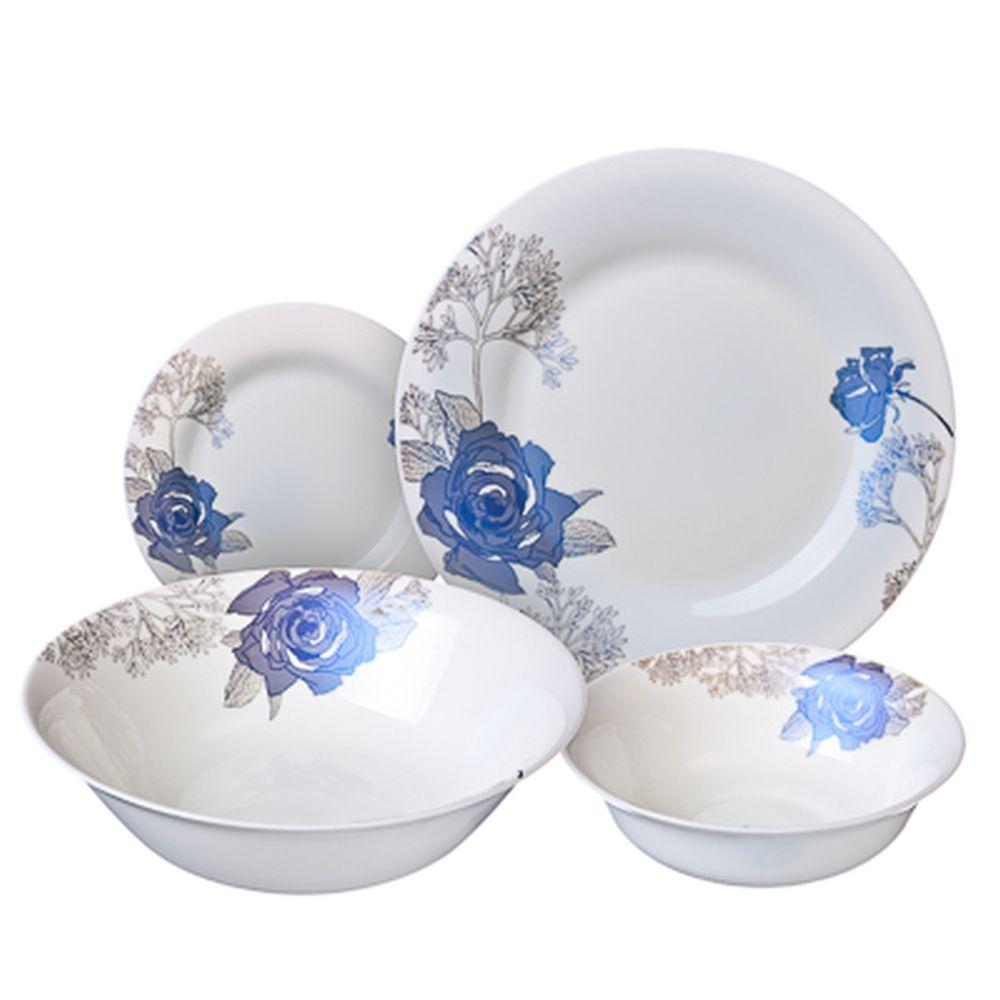 VETTA Ренли Набор столовой посуды 19 пр. опаловое стекло тонкое LFW-19