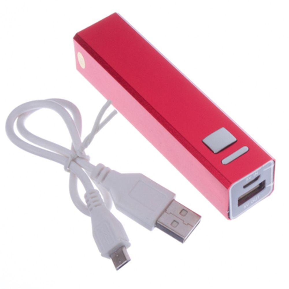 Аккумулятор мобильный 2600мАч, кабель microUSB в комплекте, 4 цвета, PB-2