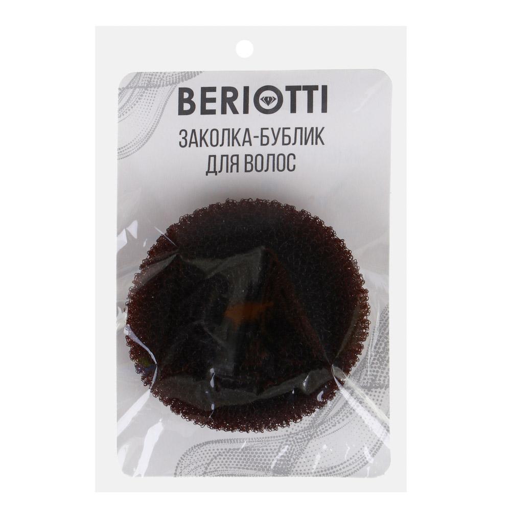 Заколка-бублик для волос, мягкий поролон с липучками, 8 см, 3 цвета