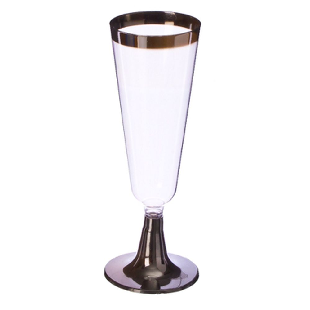 Набор пластиковых бокалов на ножке под металл 5 oz 6 шт