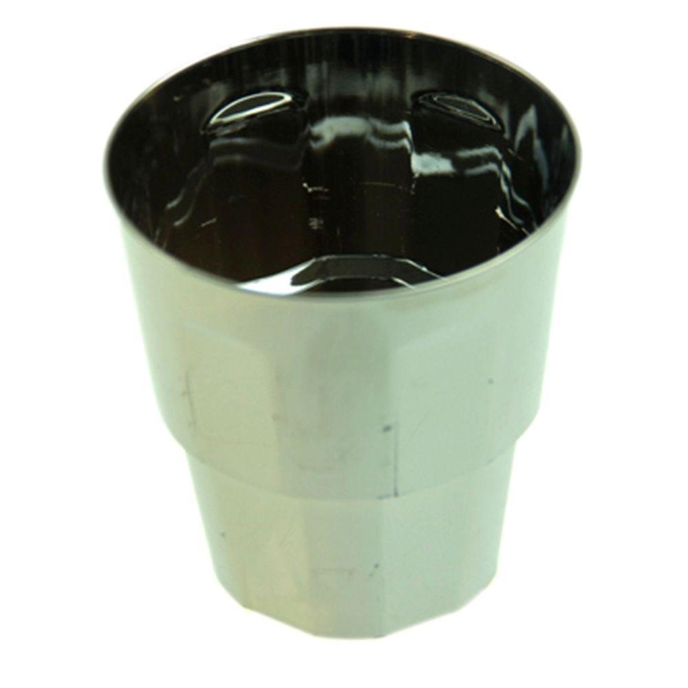 Набор пластиковых стаканов под металл 9 oz 6 шт