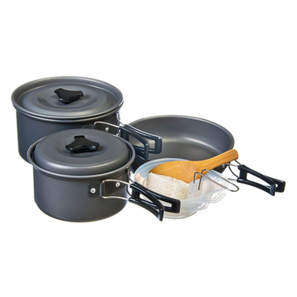 Набор посуды «Турист-3» (для 3-х персон) в чехле, алюминий, пластик 9пр. BL422