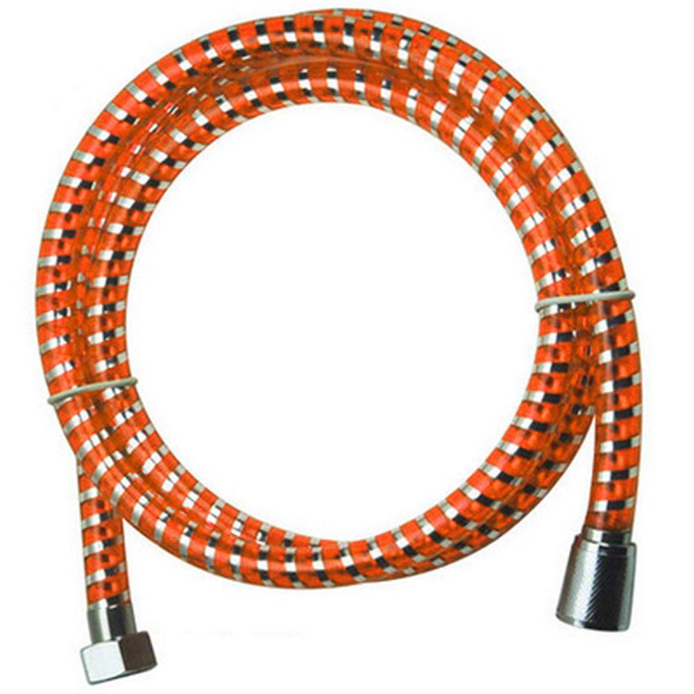 "Шланг для душа 150см, 1/2""(Имп)-1/2""(Имп), пластик, оранжевый"