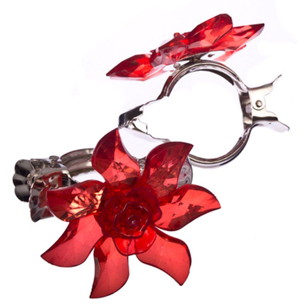 """Зажим для штор """"Каменный цветок"""", пластик, металл, 6,5см, в асс-те"""