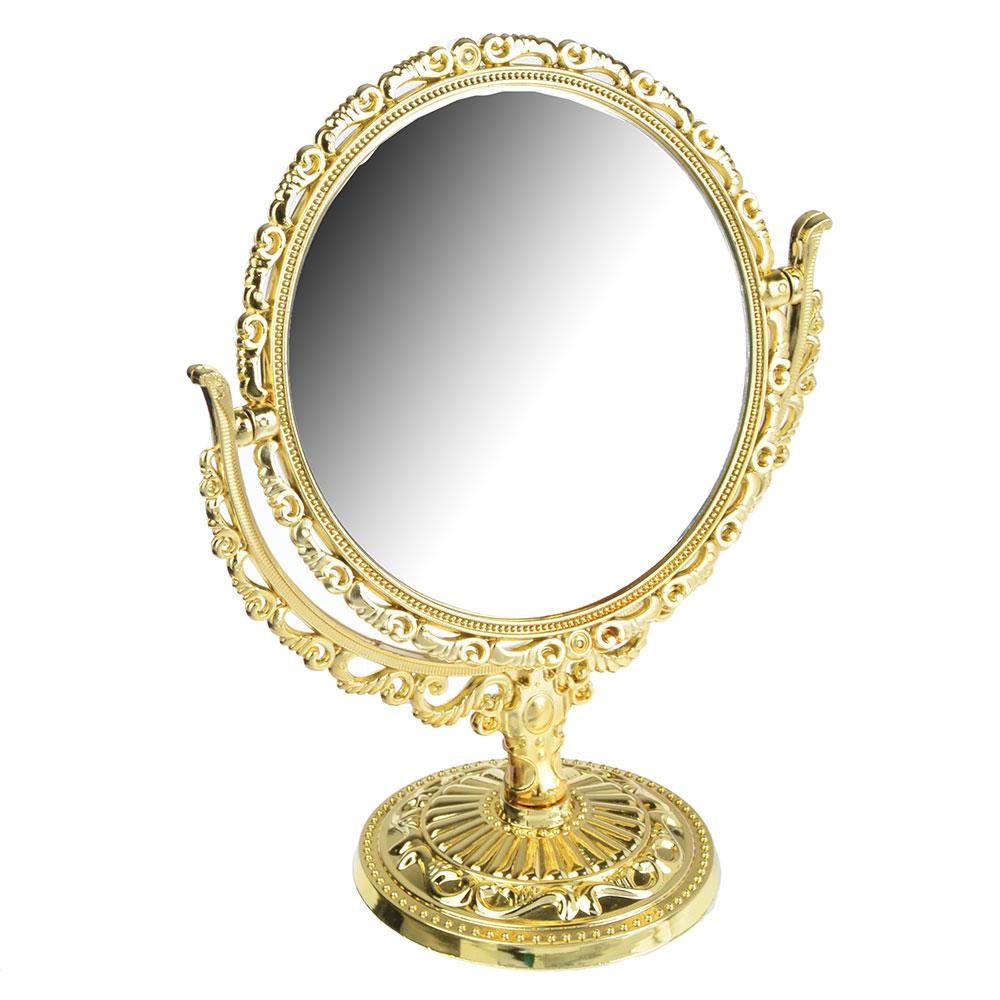 Зеркало настольное овальное, 22х17,5 см, пластик, стекло, 2 цвета