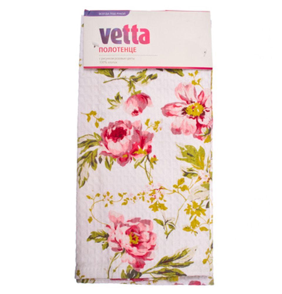 """VETTA Полотенце кухонное, хлопок 100%, 40x60см, """"Розовые цветы"""""""
