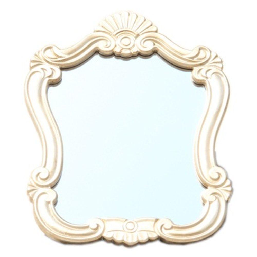 Зеркало настенное 52х38см, в багете ХДФ под серебро Р003