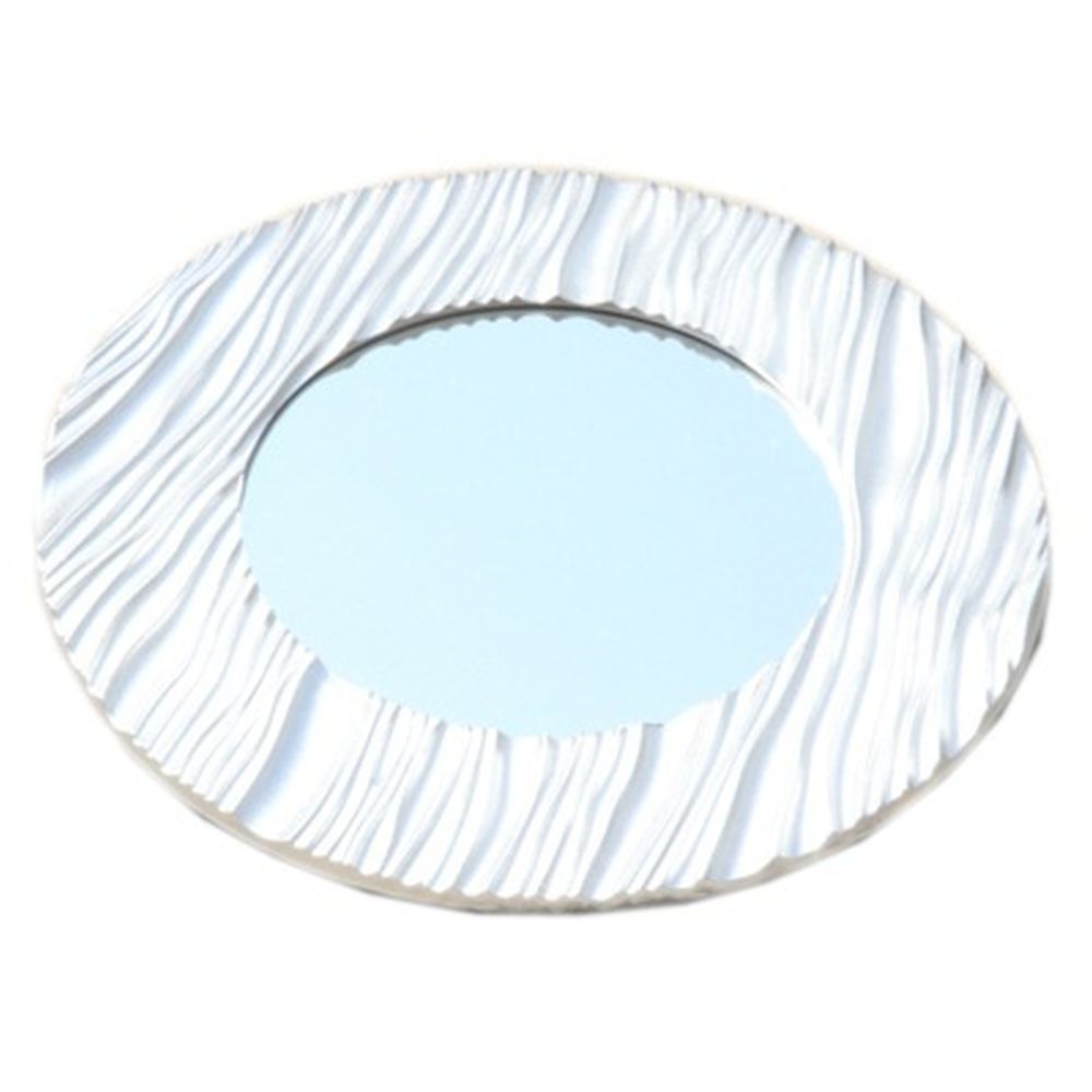 Зеркало настенное 49х49см, в багете ХДФ под серебро Р004