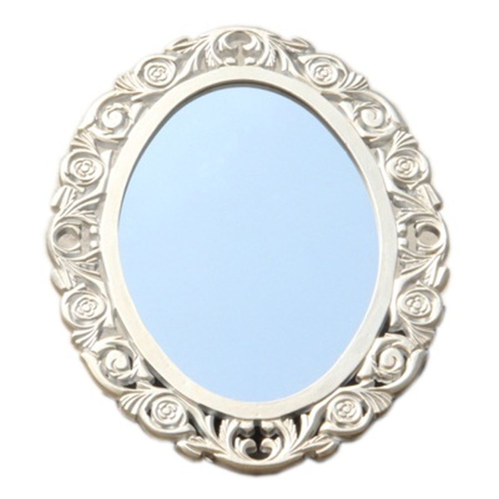 Зеркало настенное 58х45см, в багете ХДФ под серебро Р006