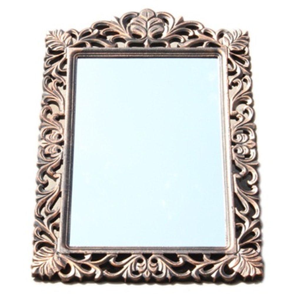 Зеркало настенное 83х55см, в багете ХДФ под медь Р007