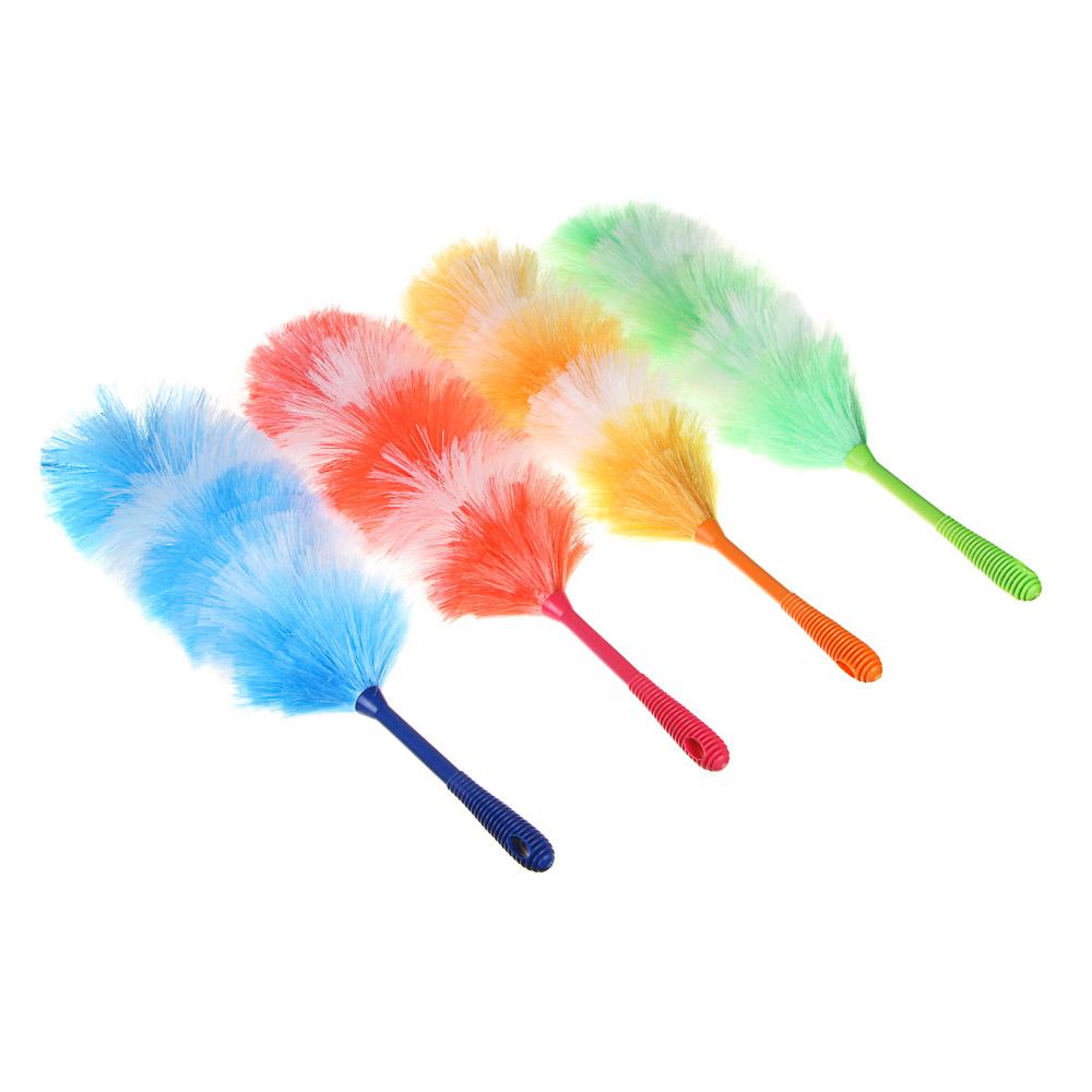 Щетка-сметка для пыли, пластик, 61 см, 4 цвета, VETTA