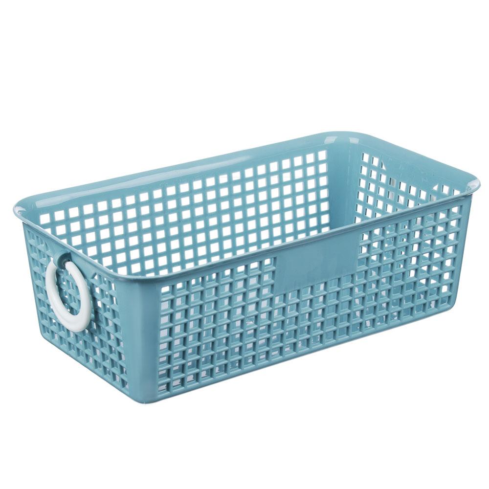 "Блок для хранения мелочей, пластик, 20x11x7 см, 3 цвета, ""Корзина"""